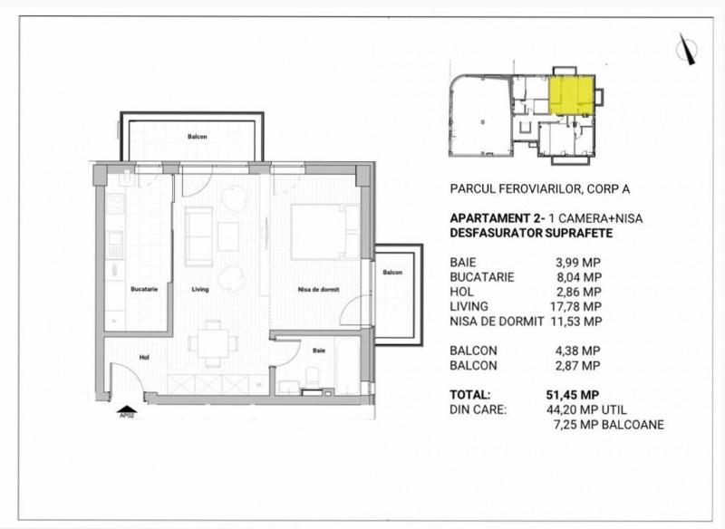 Apartamente 2 camere semifinsate sau finisate
