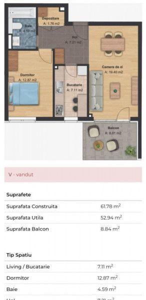 Apartament 2 camere decomandat zona Grand Hotel Italia